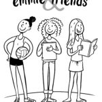 Emmie & Friends coloring page